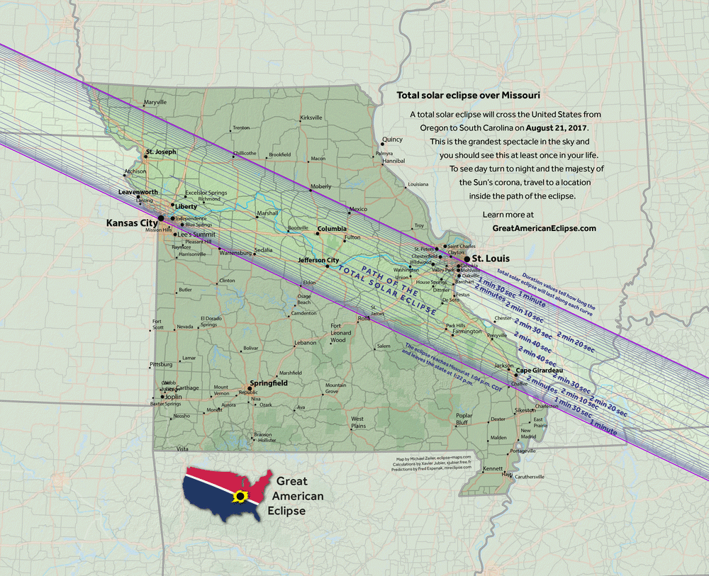 2017 Eclipse Map Kansas.2017 Total Solar Eclipse Missouri Basys Processing