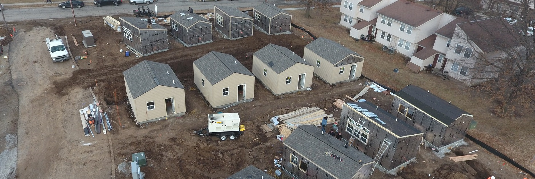 Tiny-homes - Veterans Village - Veterans Community Project - VCP - Oddo Deelopment