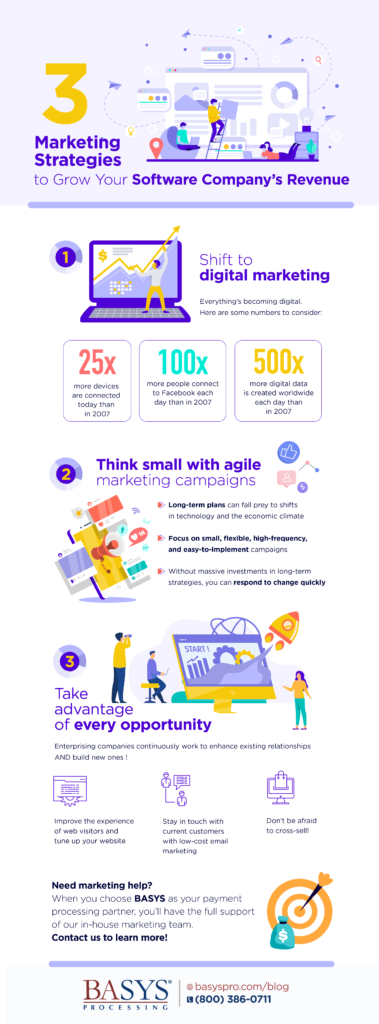3 Marketing Strategies to Grow Your Software Company's Revenue-Infographic